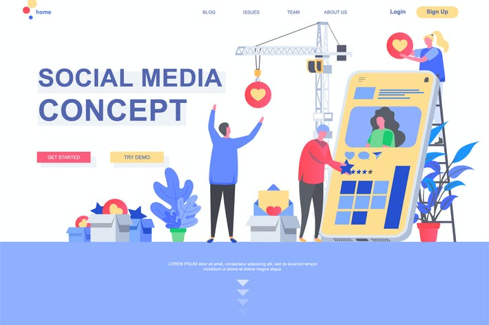 Thumbnail for Social Media Landing Page Template