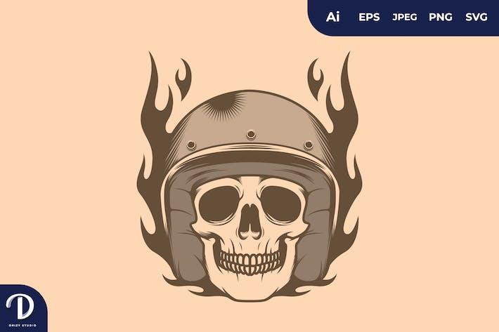 Skull Rider Illustration