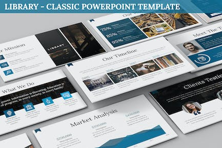 Library - Classic Powerpoint Template