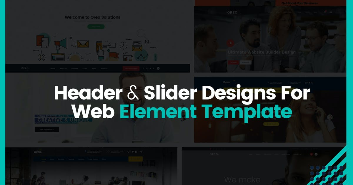 Download Header & Slider Designs For Web Element Template by mexopixel