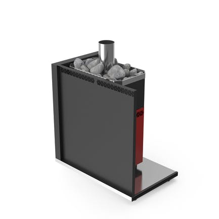 Bath Stove with Protective Screen