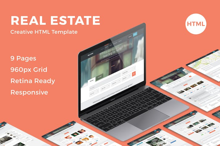 Thumbnail for Real Estate - Creative HTML Template