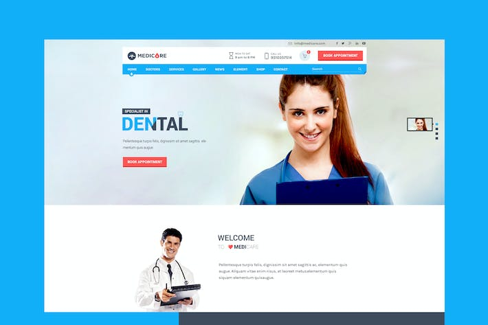Thumbnail for Medicare - Medical & Health HTML Template