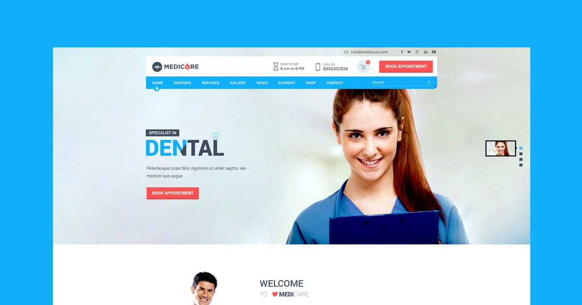 Download Medicare - Medical & Health HTML Template by WPmines