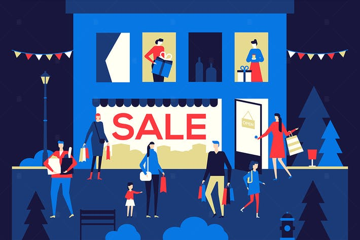 Thumbnail for Big Sale - flat design style colorful illustration