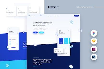 Better Mobile App Landing Page Template UI Kit