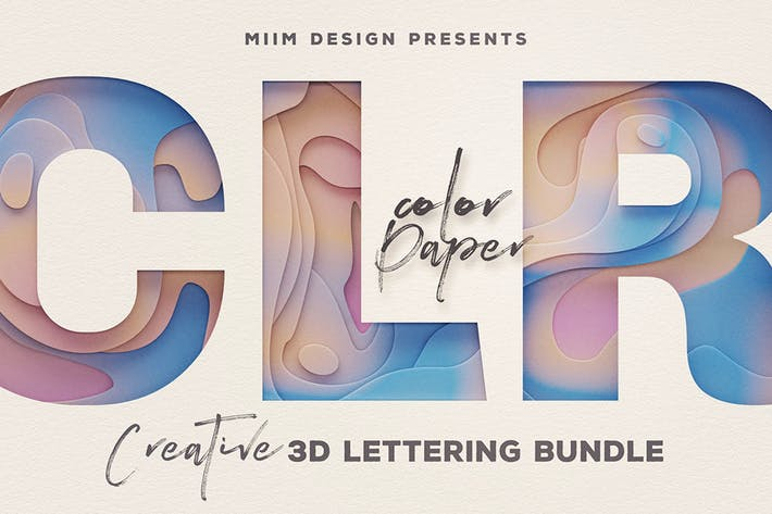 Thumbnail for Color Paper – 3D Lettering