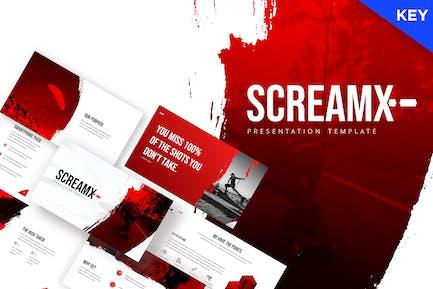 ScreamX - Pinsel-Keynote Vorlage