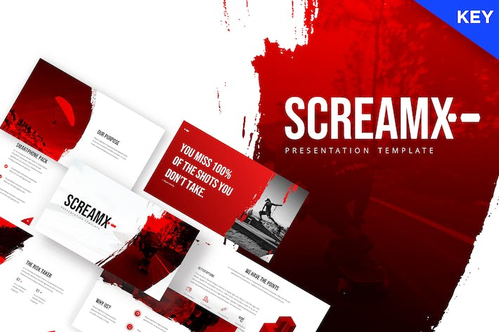 Thumbnail for ScreamX - Brush Keynote Template