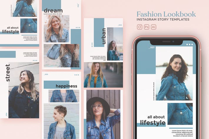 Thumbnail for Fashion Lookbook Instagram Story Templates