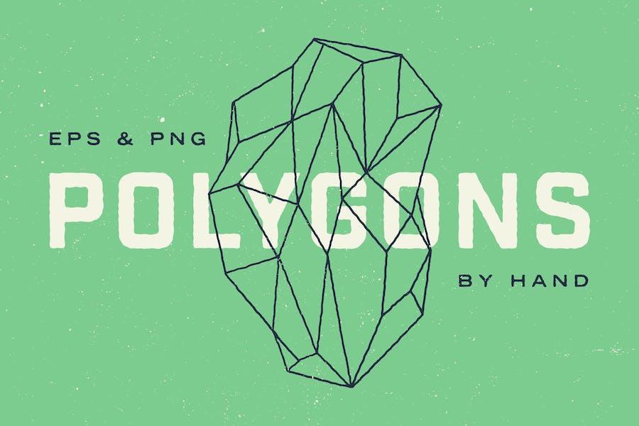 Hand Illustrated Geometric Polygons