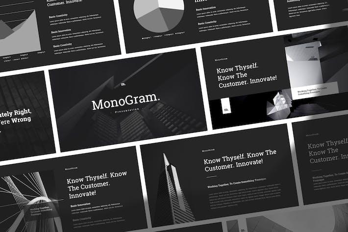 Thumbnail for Монограмма - Простой элегантный Шаблон Powerpoint