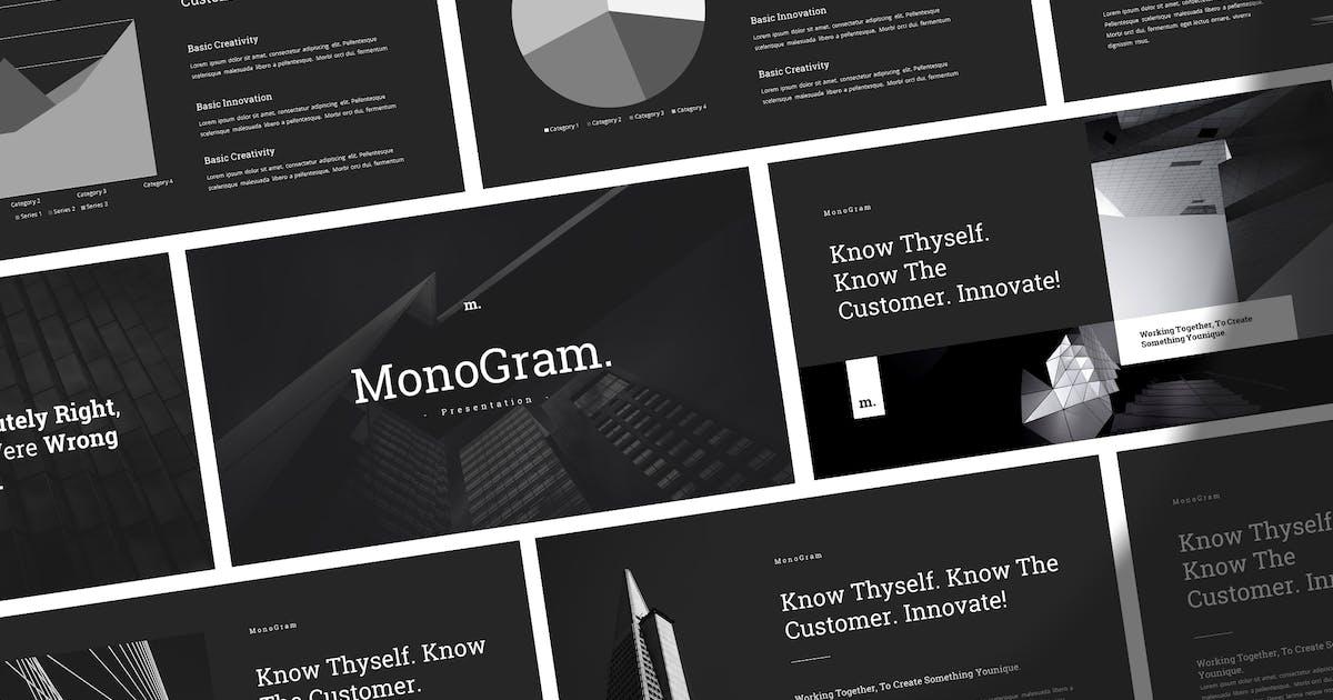 Download Monogram - Simple Elegant Powerpoint Template by Slidehack