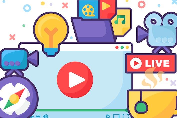 Live Video Idea Producing Illustration