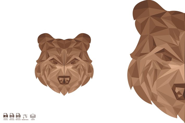 bear head geometric