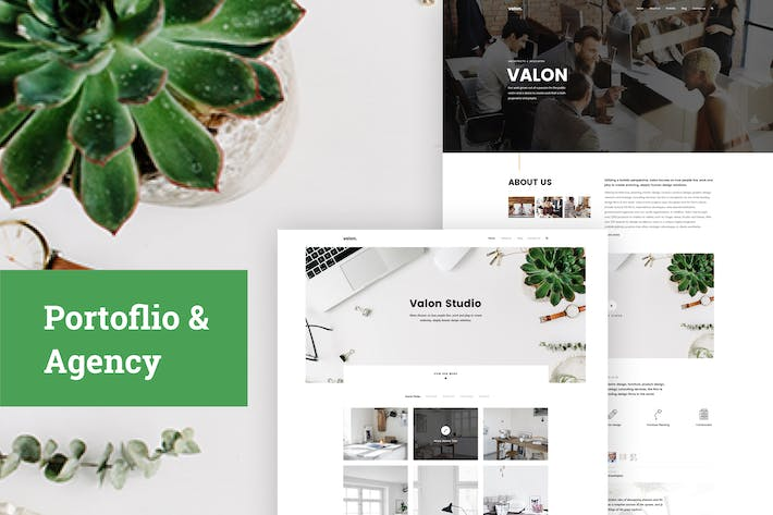 Thumbnail for Portfoilio & Agency PSD Template