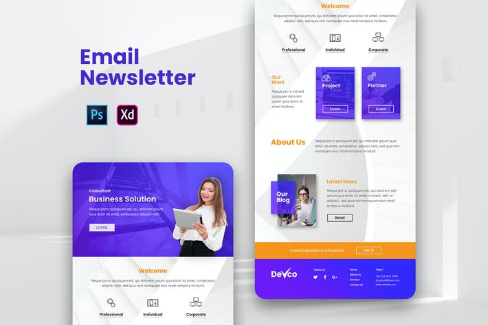 Thumbnail for Business Email Newsletter