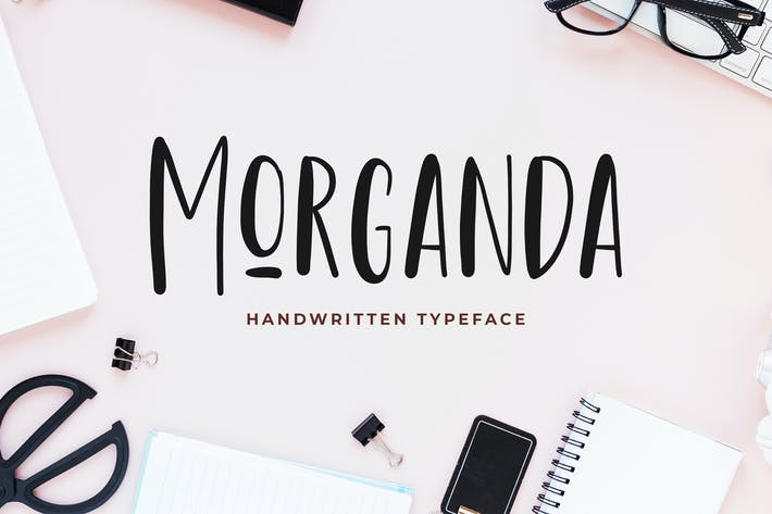 Thumbnail for Morganda Handwritten Font