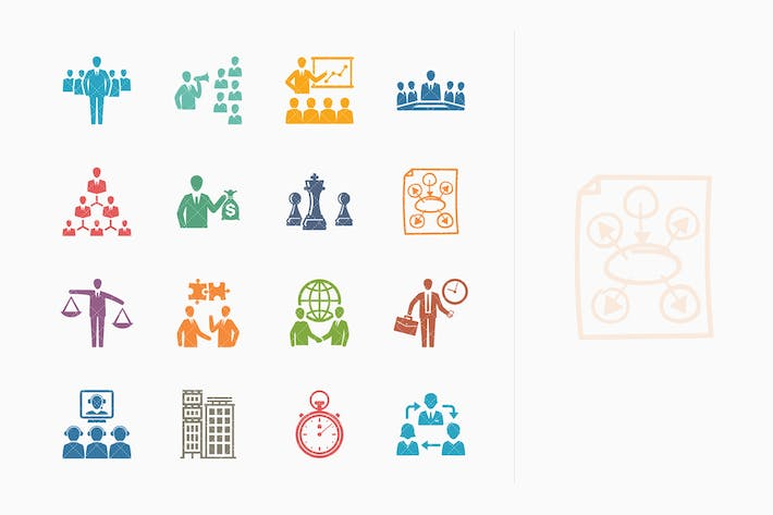 Thumbnail for Business & Management Icons 2 - Colored Series