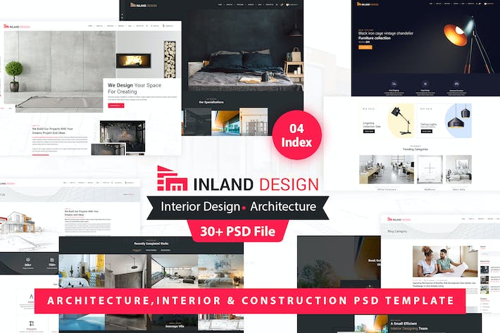 Thumbnail for Inland - Interior Design PSD Template