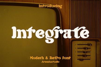 Integrate - Modern & Retro Font