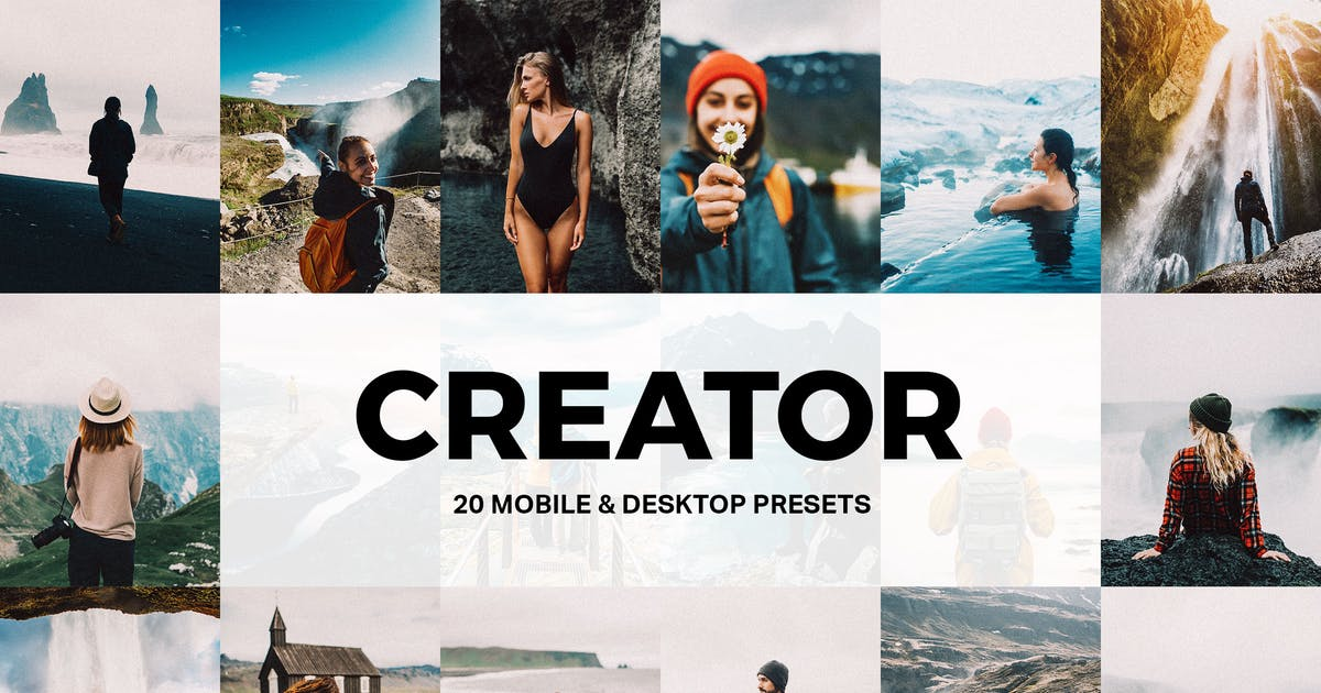 Download 20 Creator Lightroom Presets and LUTs by sparklestock