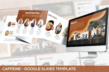 Кофеин - Coffeeshop Google слайды Шаблон