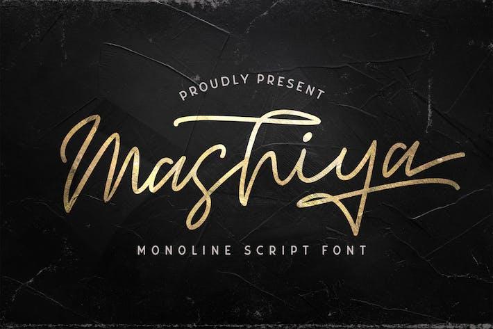Thumbnail for Mashiya - Fuente de secuencia de comandos monolina