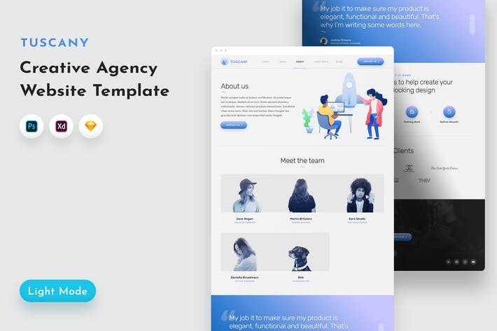 Thumbnail for Tuscany Agency Template
