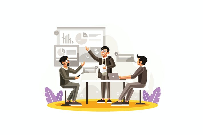 Thumbnail for Teamwork of startup on meeting room