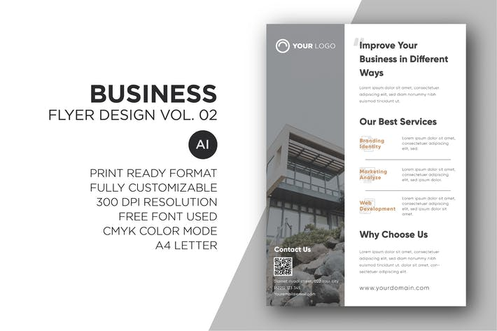 Thumbnail for Business Flyer Design Vol. 02