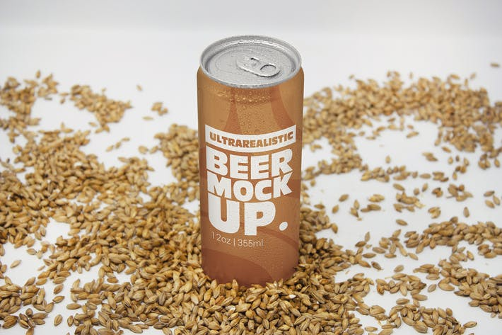 Thumbnail for Perspective 12oz Malt Can Mockup