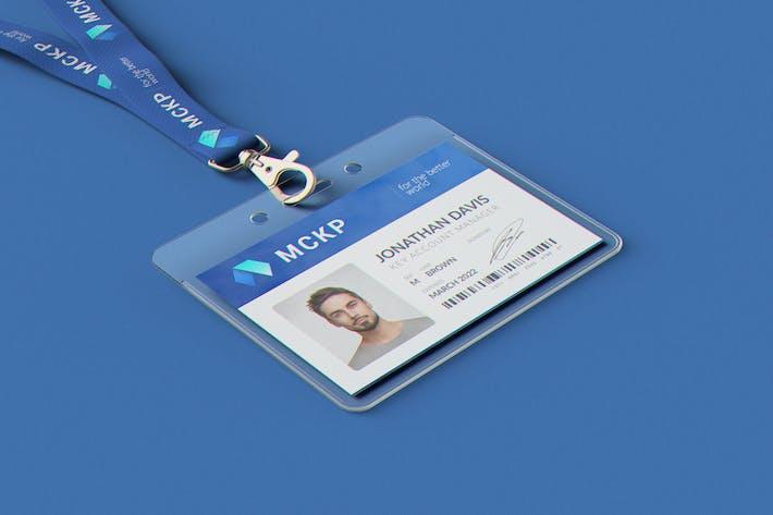 Lanyard / Name Tag Badge MockUp