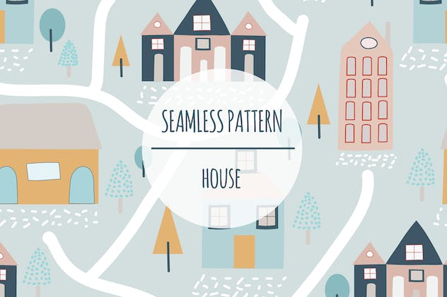 House – Seamless Pattern - product preview 0