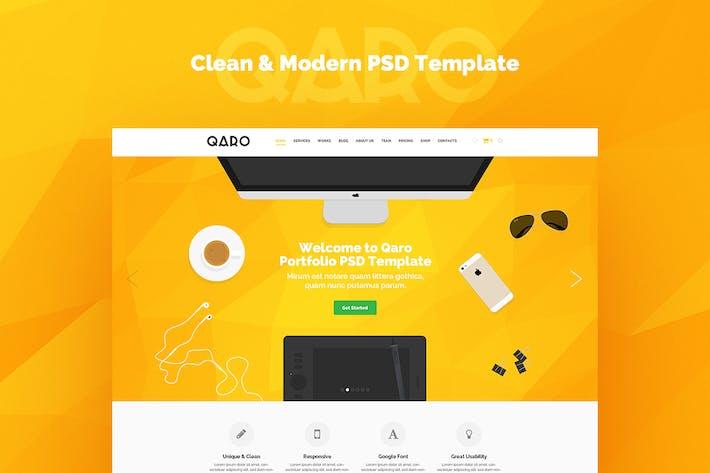 Thumbnail for QARO - Clean & Modern PSD Template