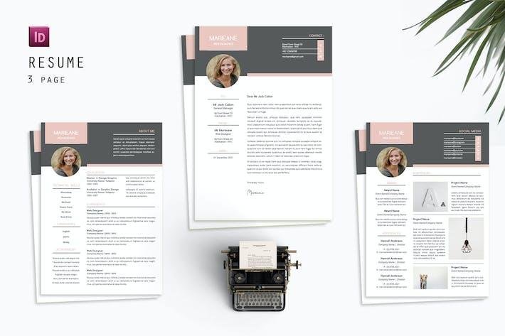 Thumbnail for Marieane Resume Designer