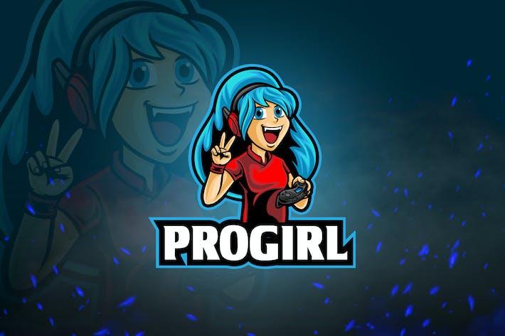 Thumbnail for Avatar Games & Esport Logo V4 - ProGirl