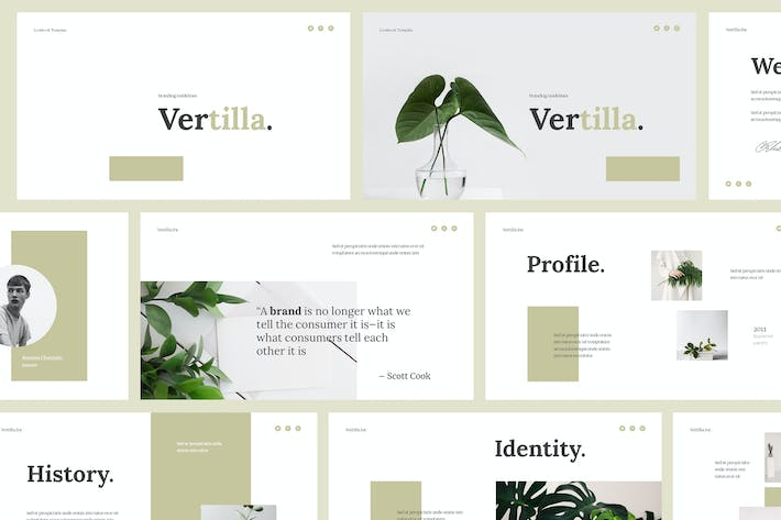 Thumbnail for Vertilla - Brand Guideline Powerpoint Template