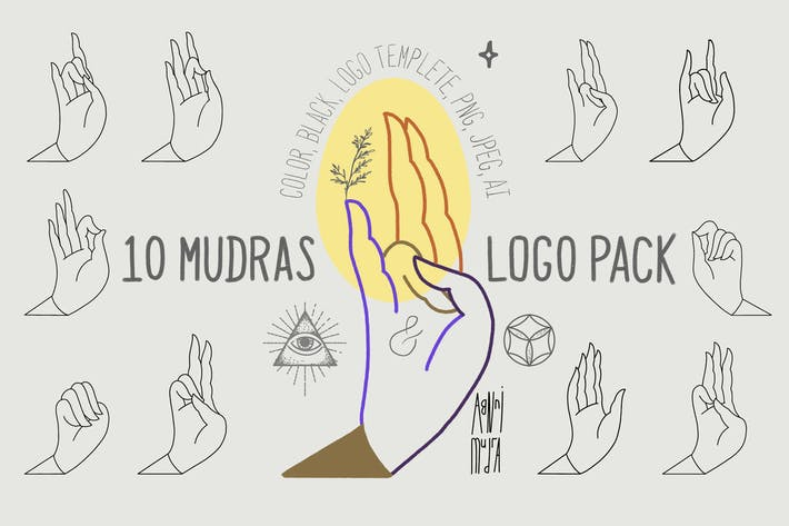 Thumbnail for 10 Mudras & Logo Pack