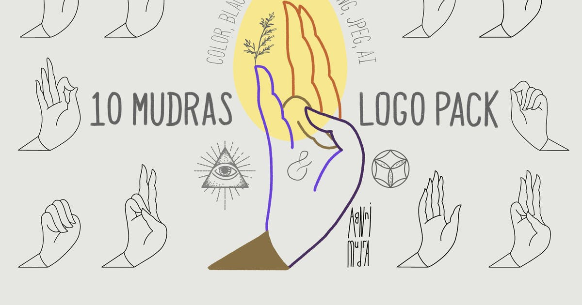 Download 10 Mudras & Logo Pack by a_slowik