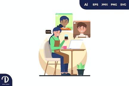 Virtual Meeting Illustrations