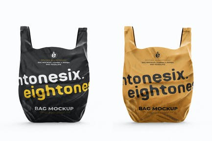 Plastic Bag Mock-Up Template