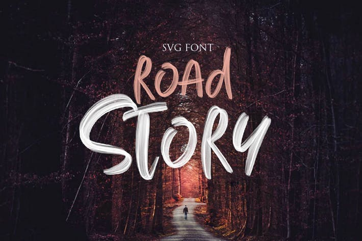 Thumbnail for ROAD STORY - SVG FONT