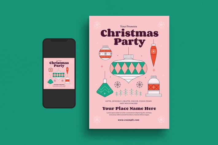 Thumbnail for Holiday Christmas Party Flyer