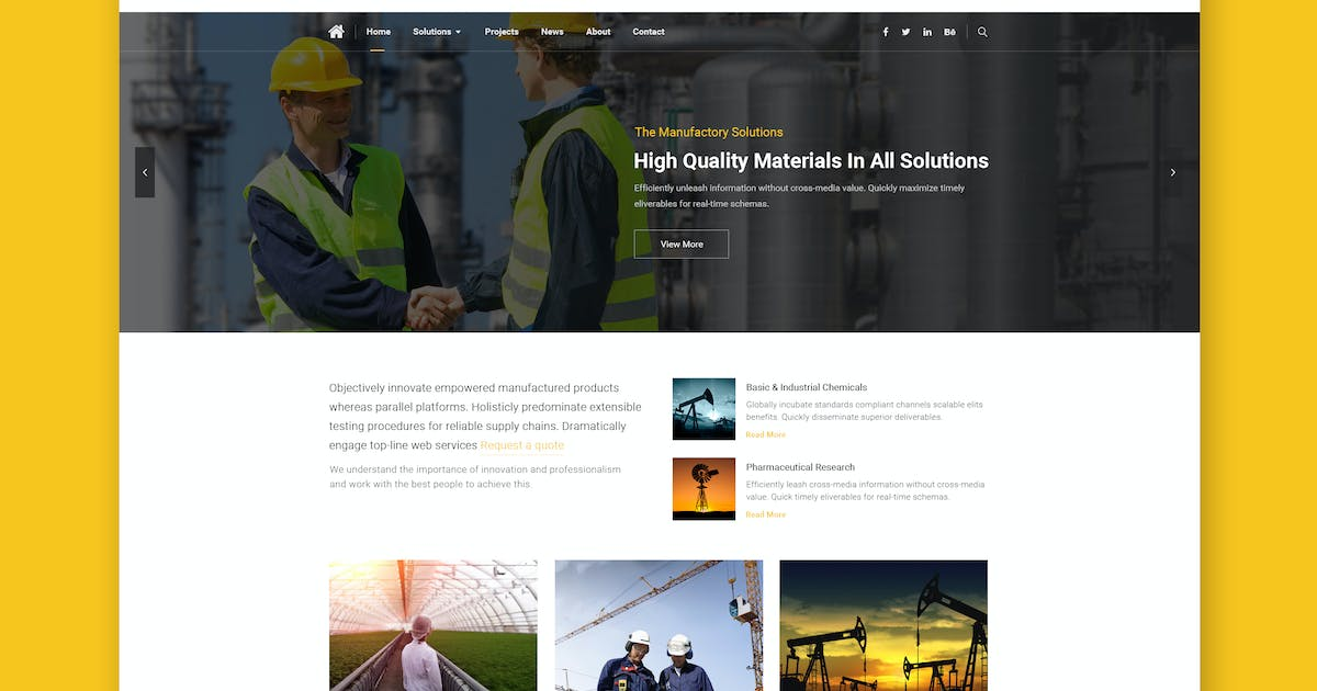 Manufactory: Multi-Industrial HTML Template by WPmines