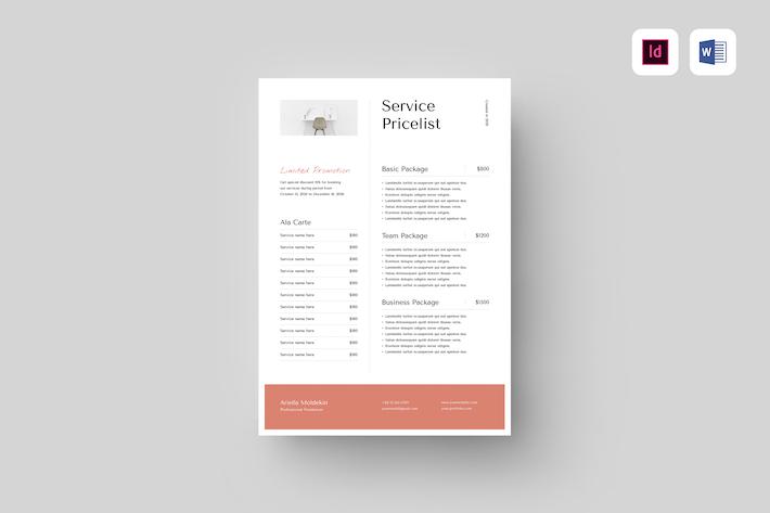 Service-Preisliste