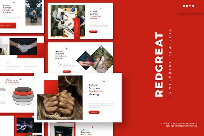 Красный Великий - Шаблон Powerpoint