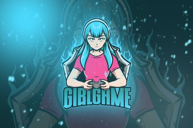 Girl Game Esport Logo Vol. 1
