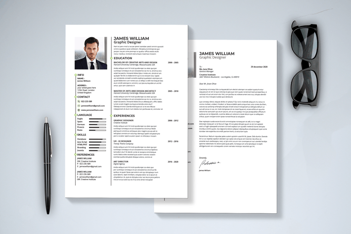Cover Image For Minimal Resume & Cover Letter