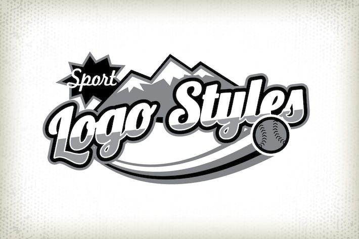 Стили спортивных Логотип